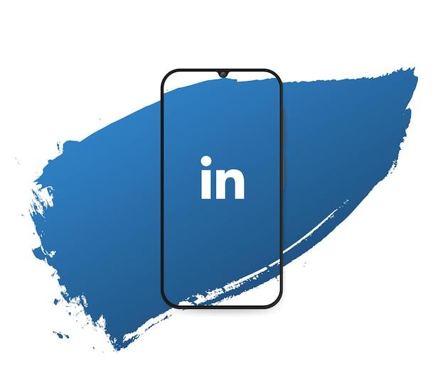 Social media linkedin splash Free Vector