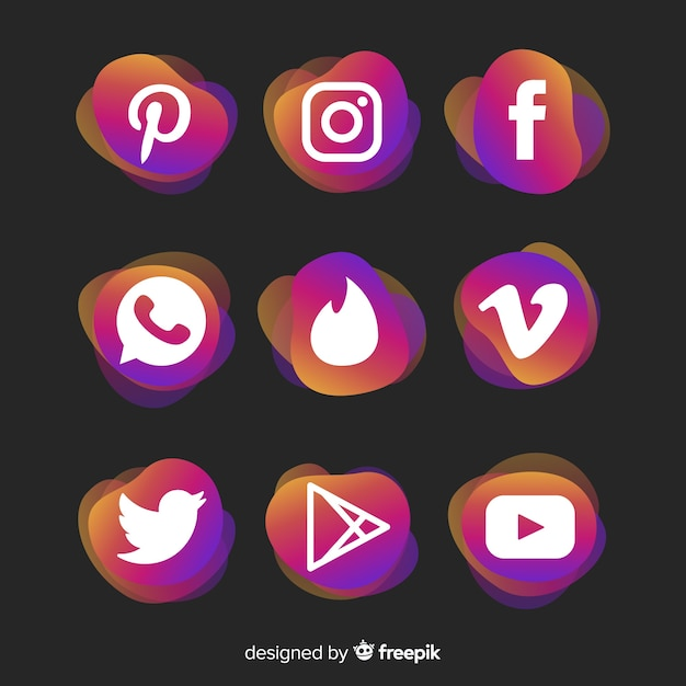 Social media logo collectio Free Vector