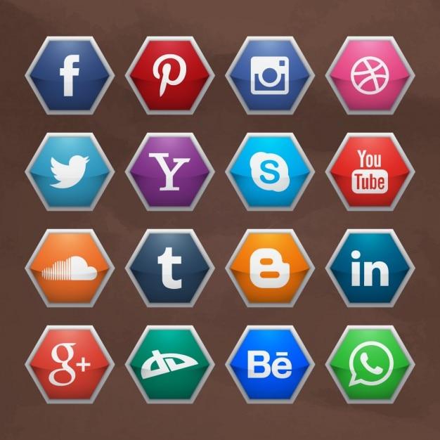 social media logo collection vector free download