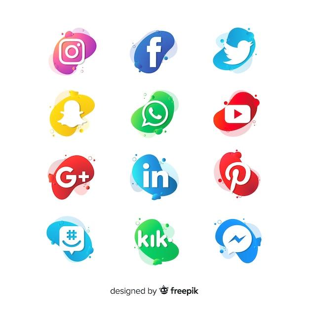 Social media logo collection Free Vector