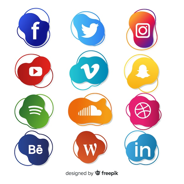 Social media logo collection Free Vector