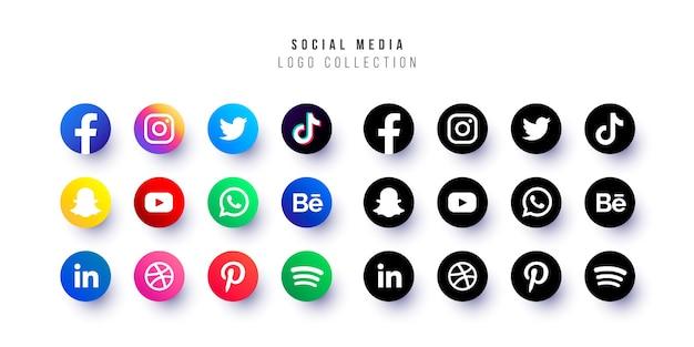 소셜 미디어 로고 컬렉션 무료 벡터