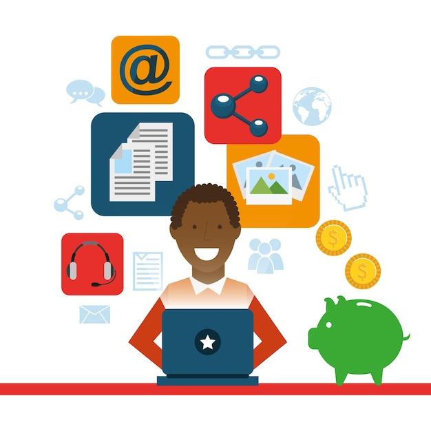 Social media marketing Premium Vector