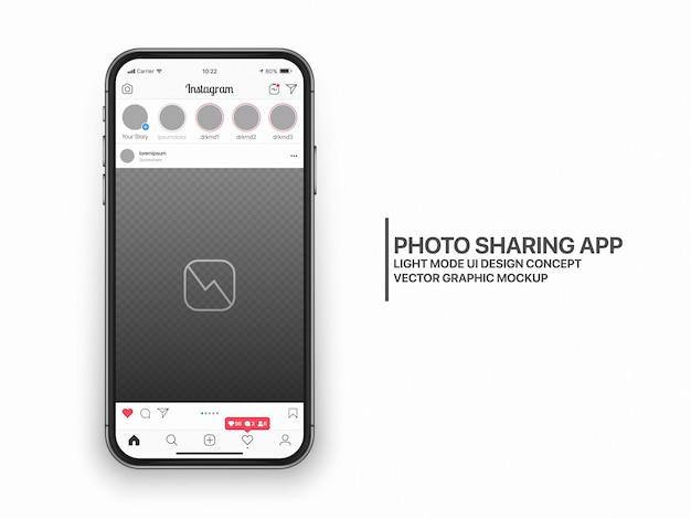 Макет шаблона ux ui в социальных сетях Premium векторы