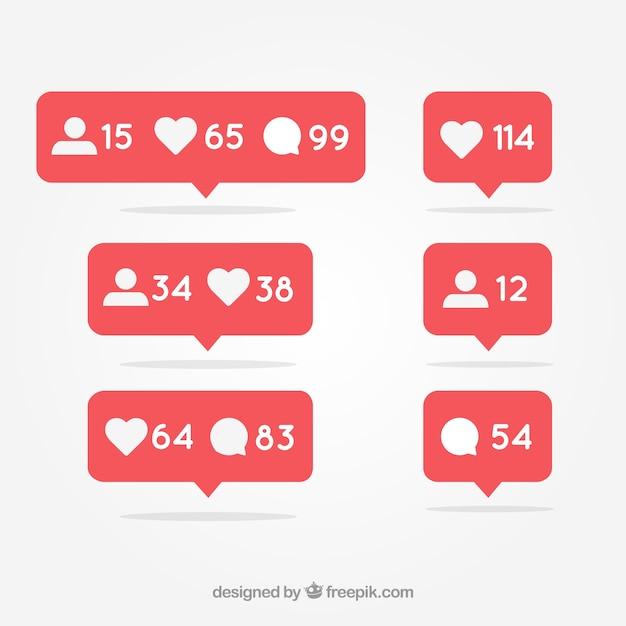 Social media notification Free Vector