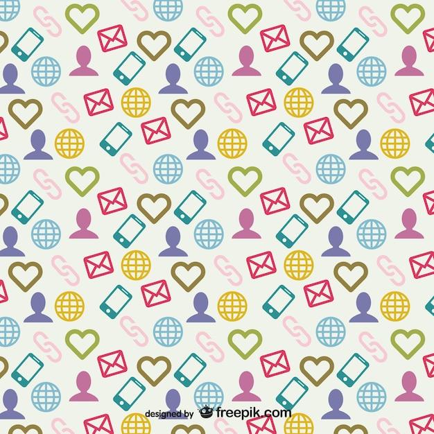 Social media pattern Free Vector