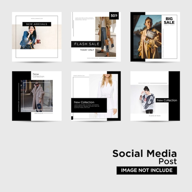 Social media post for digital marketing template Premium Vector