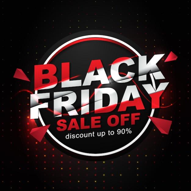 Social media post template for black friday event Premium Vector