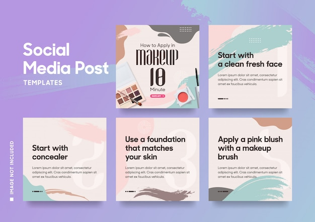 Social media post template for fashion Premium Vector