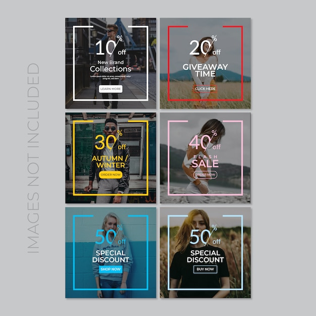 Social media post template Premium Vector