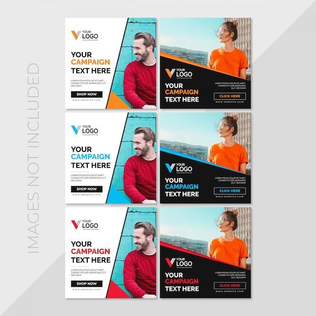 Social media post template Premium Vector