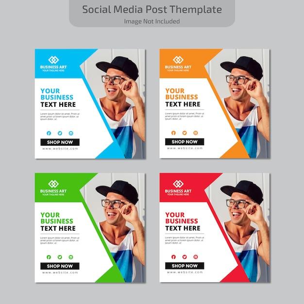 Пост в социальных сетях Premium векторы