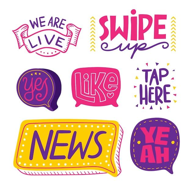 Concetto sociale delle bolle di slang di media Vettore gratuito