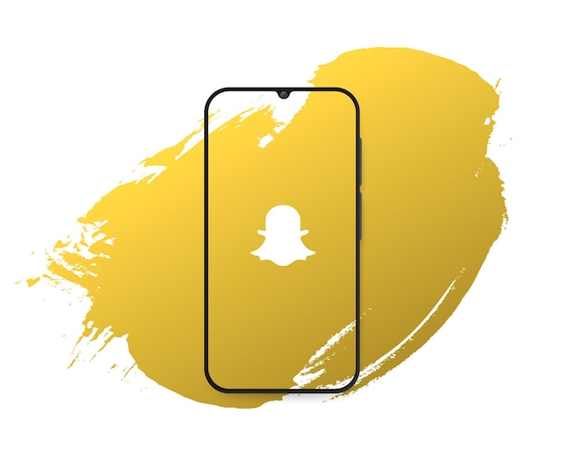 Social media snapchat splash Free Vector