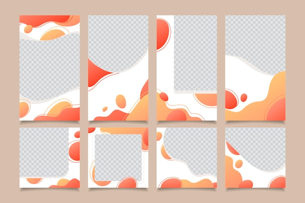 Social media stories and posts templates set Free Vector