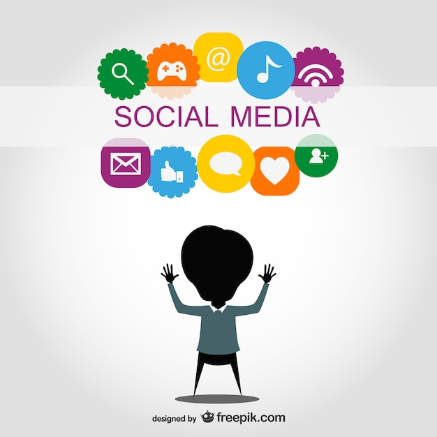 Social media symbols design Vector | Free Download