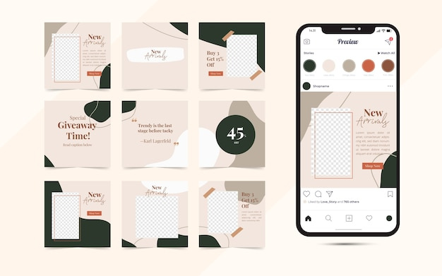 Шаблон баннера в социальных сетях для продвижения продажи модной одежды Premium векторы