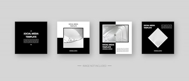 Social media template. trendy editable social media post template. isolated. template design. illustration. Premium Vector
