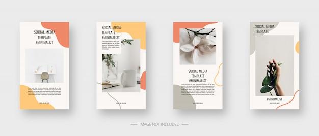 Social media template. trendy editable social media stories template. isolated. template design. illustration. Premium Vector