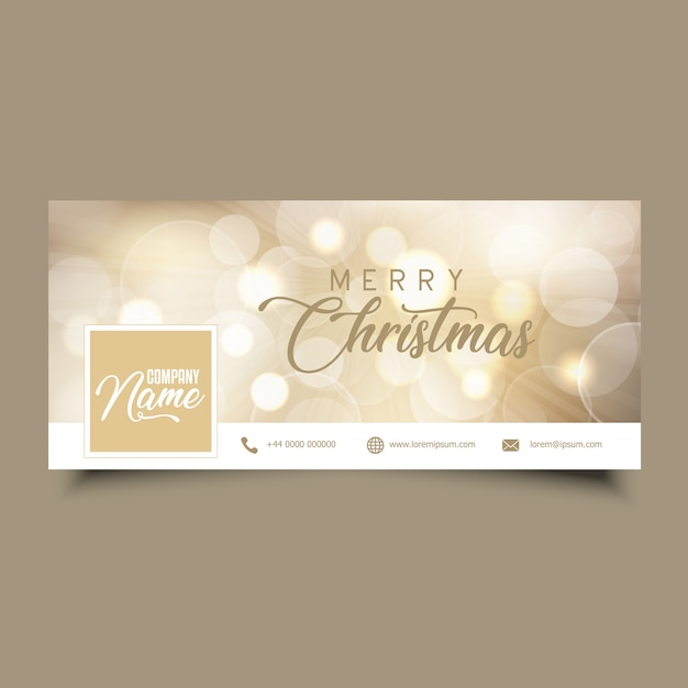Social media timeline cover with christmas design Free Vector