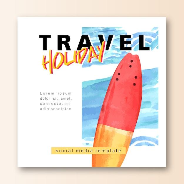 Социальные сети путешествие на отдыхе летом на пляже пальмовые каникулы, море и небо солнечный свет Бесплатные векторы