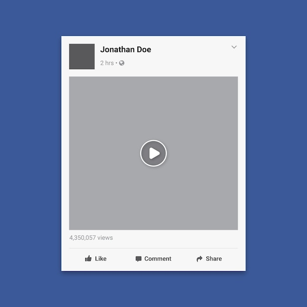 Social Media Video Frame Template