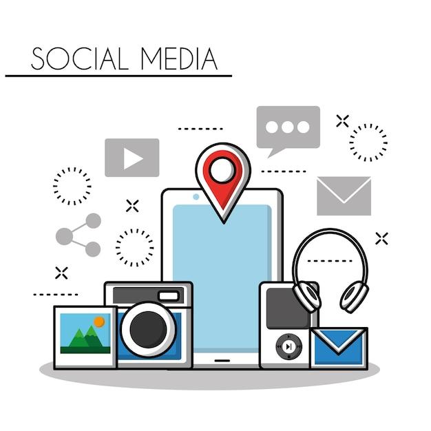 ソーシャルメディア Premiumベクター