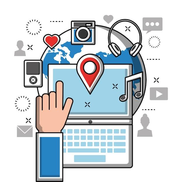 Social media Premium Vector