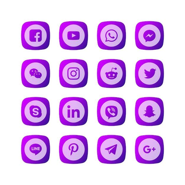 Иконка social media Premium векторы