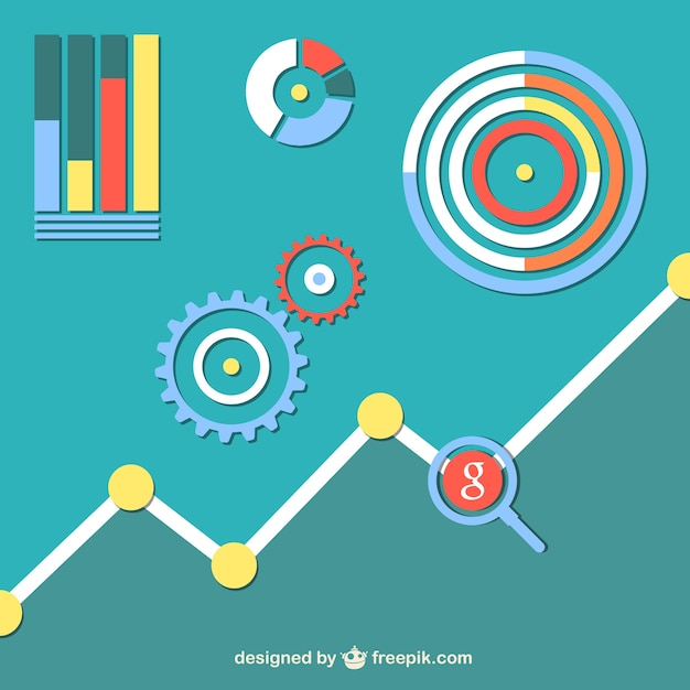 social network chart vector free download