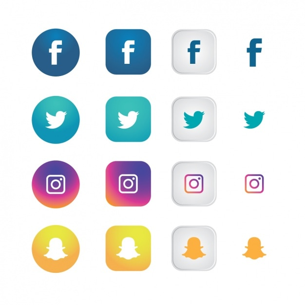 Social network icons collection Vector | Free Download