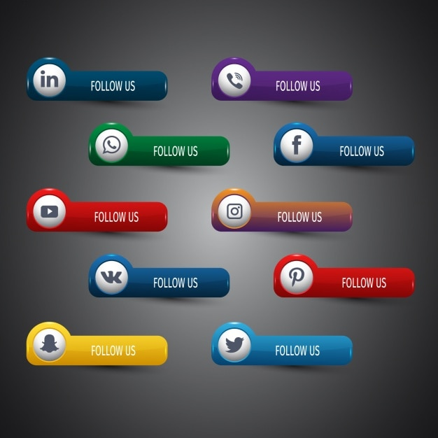 Social network icons collection Free Vector