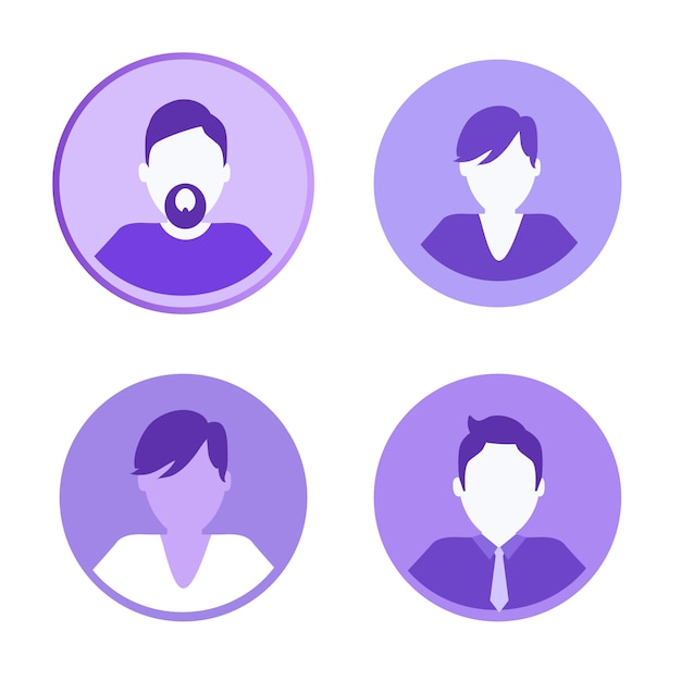 Social network icons people vector illustration Premium Vector