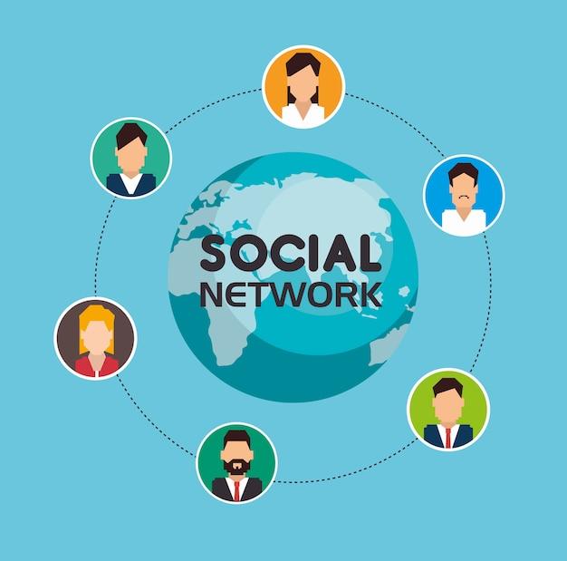 Social network media composition Free Vector