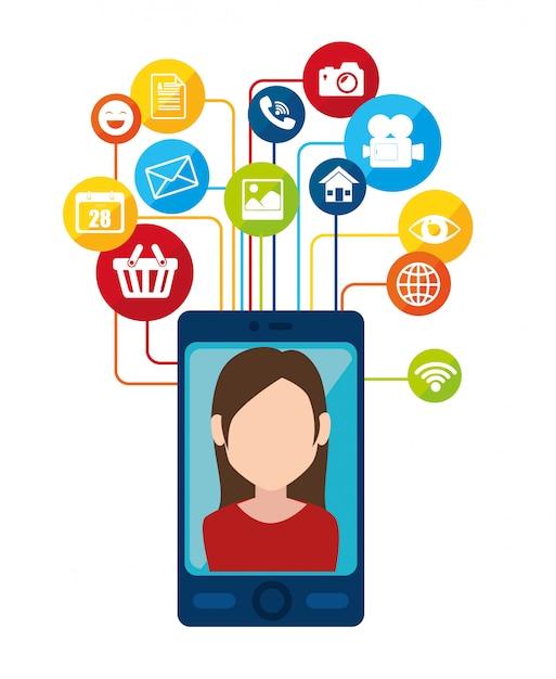 Social network and media Premium Vector