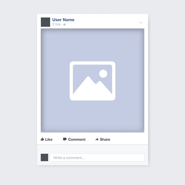 Social network photo frame design Free Vector