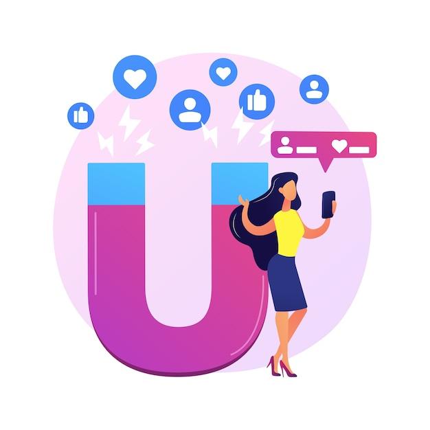Profilo di social network. famoso blogger, personaggio di colore dei cartoni animati influencer. mi piace e ripubblicazioni alle foto. popolarità di internet, fama, celebrità. Vettore gratuito