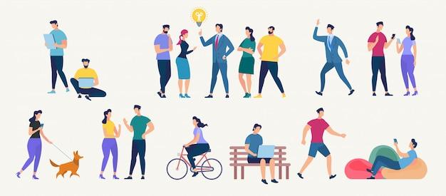 Social network and teamwork vector concept. Premium Vector