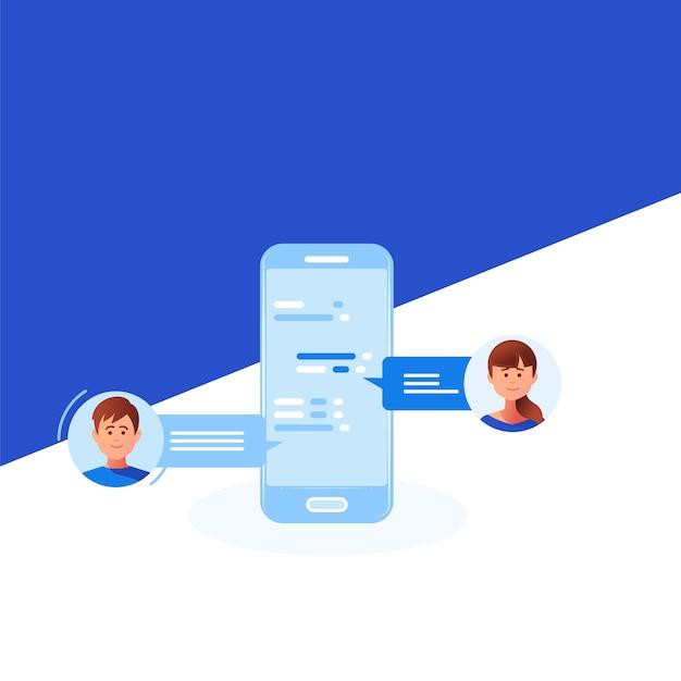 Social networking concept Premium Vector
