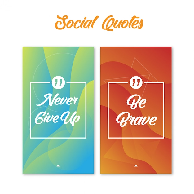 Social quotes with abstract background Premium Vector