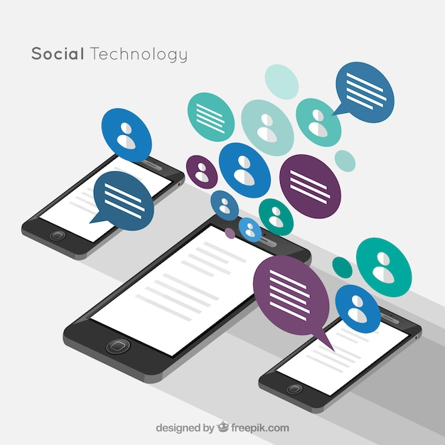 Social technology Free Vector