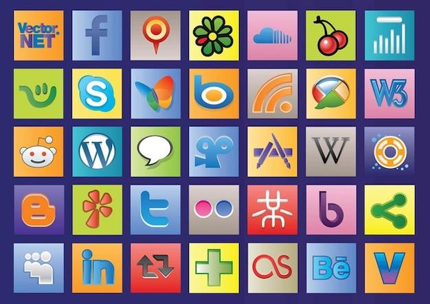Social Web Vectors Free Vector