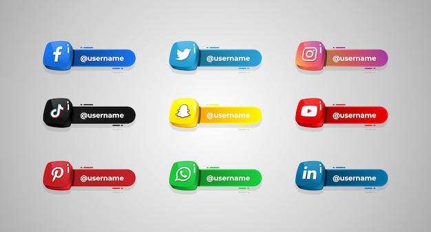 Socialmedia_username Premium Vector