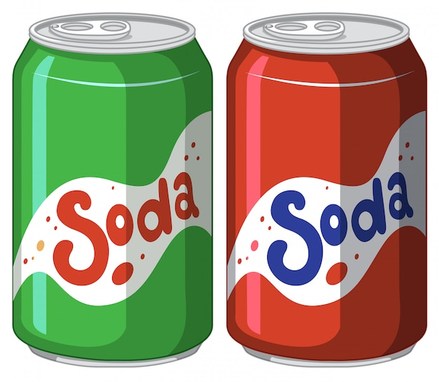 Soda can in aluminium on white Free Vector
