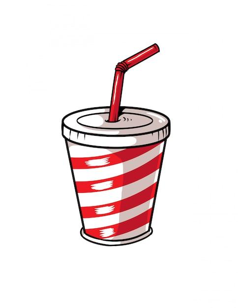 Soda cup Premium Vector