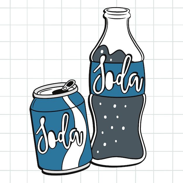 Soda drawing Premium Vector