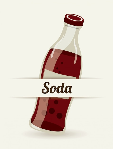 Soda simple element Free Vector