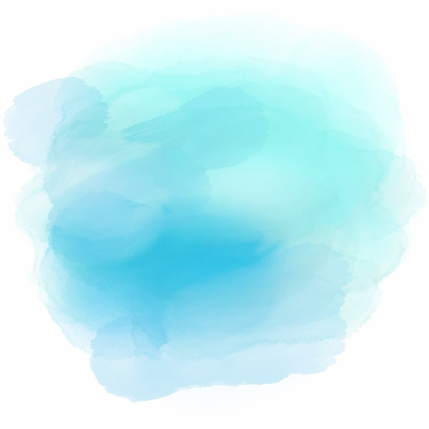 Soft background with a cute blue watercolor stain Free Vector