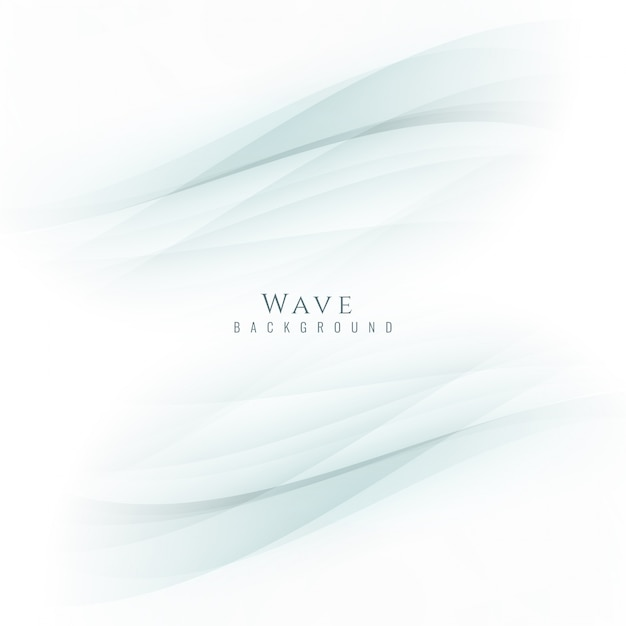 Soft background with wave design Free Vector