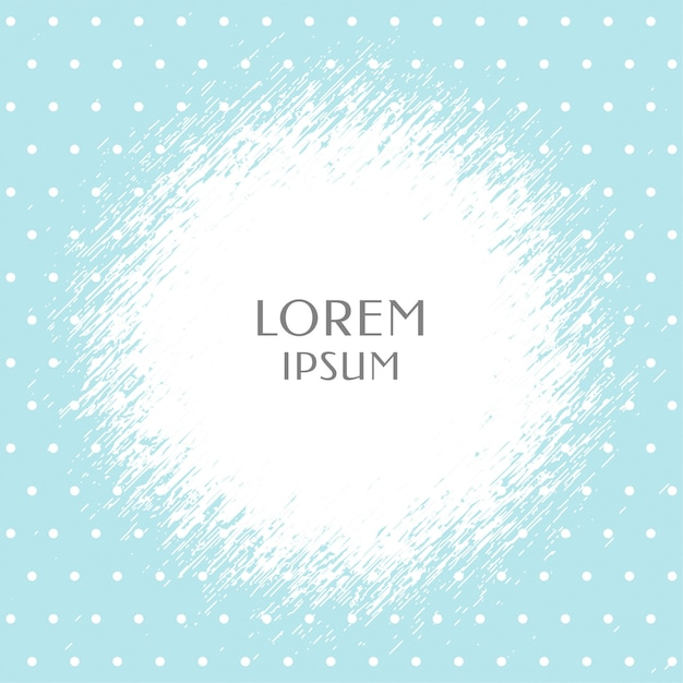 Soft blue polka dots pattern with text space Free Vector